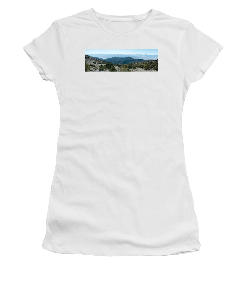 Photography Women's T-Shirt featuring the photograph Mountain Range, White Mountains by Panoramic Images