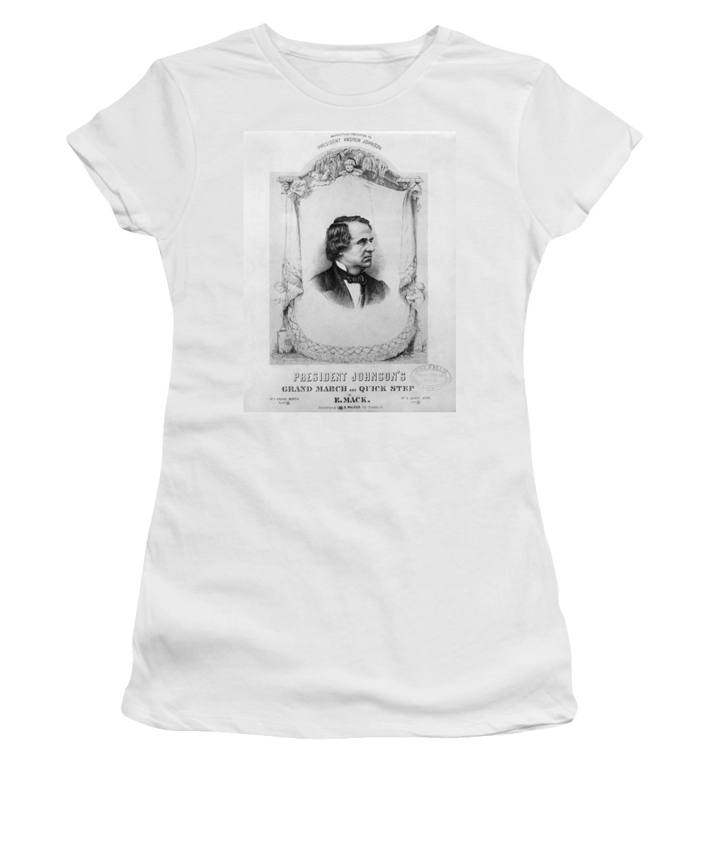 1865 Women's T-Shirt (Athletic Fit) featuring the photograph Music Andrew Johnson by Granger