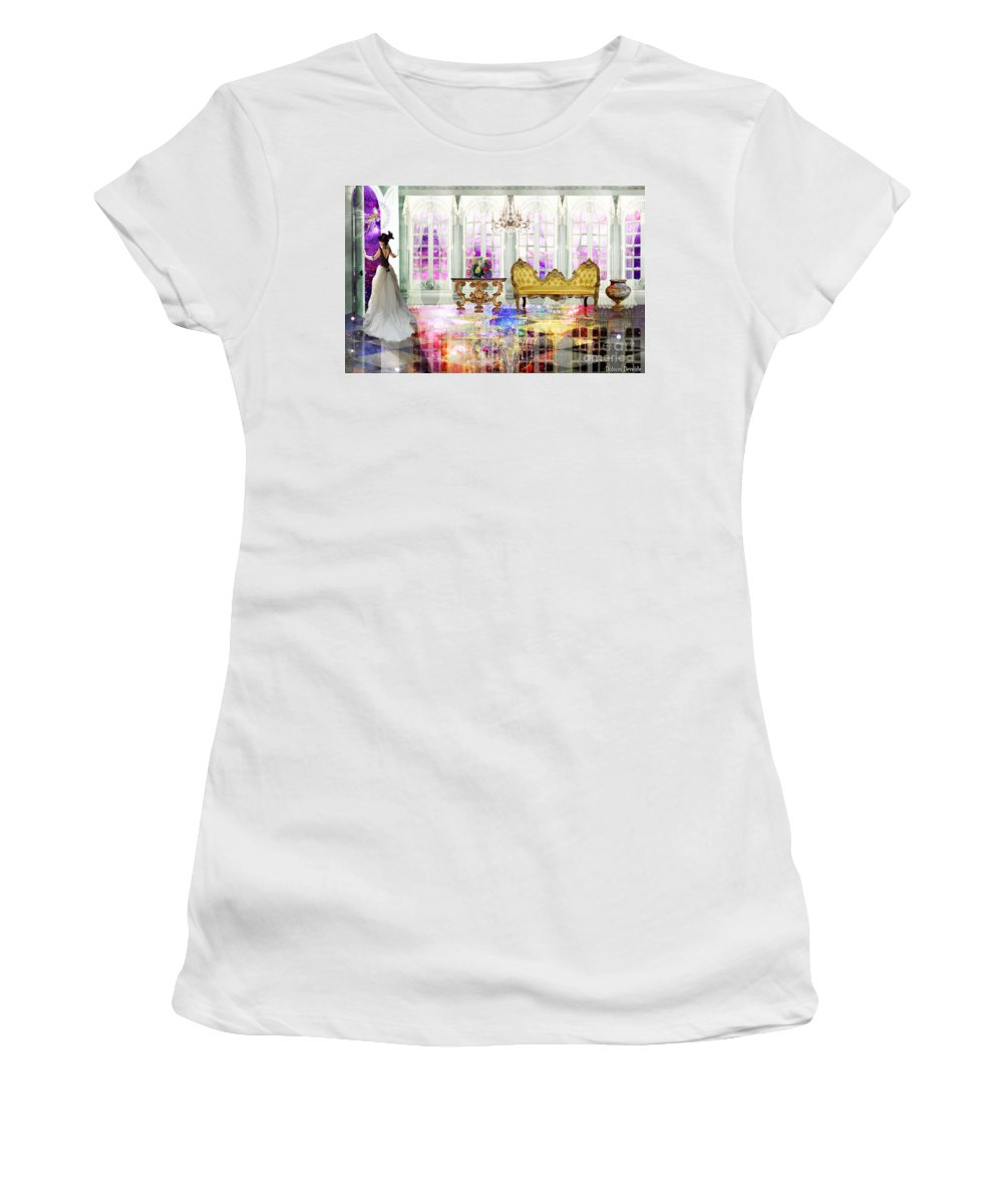 John 14: 2 In My Fathers House There Are Many Room Women's T-Shirt featuring the digital art My Fathers House by Dolores Develde