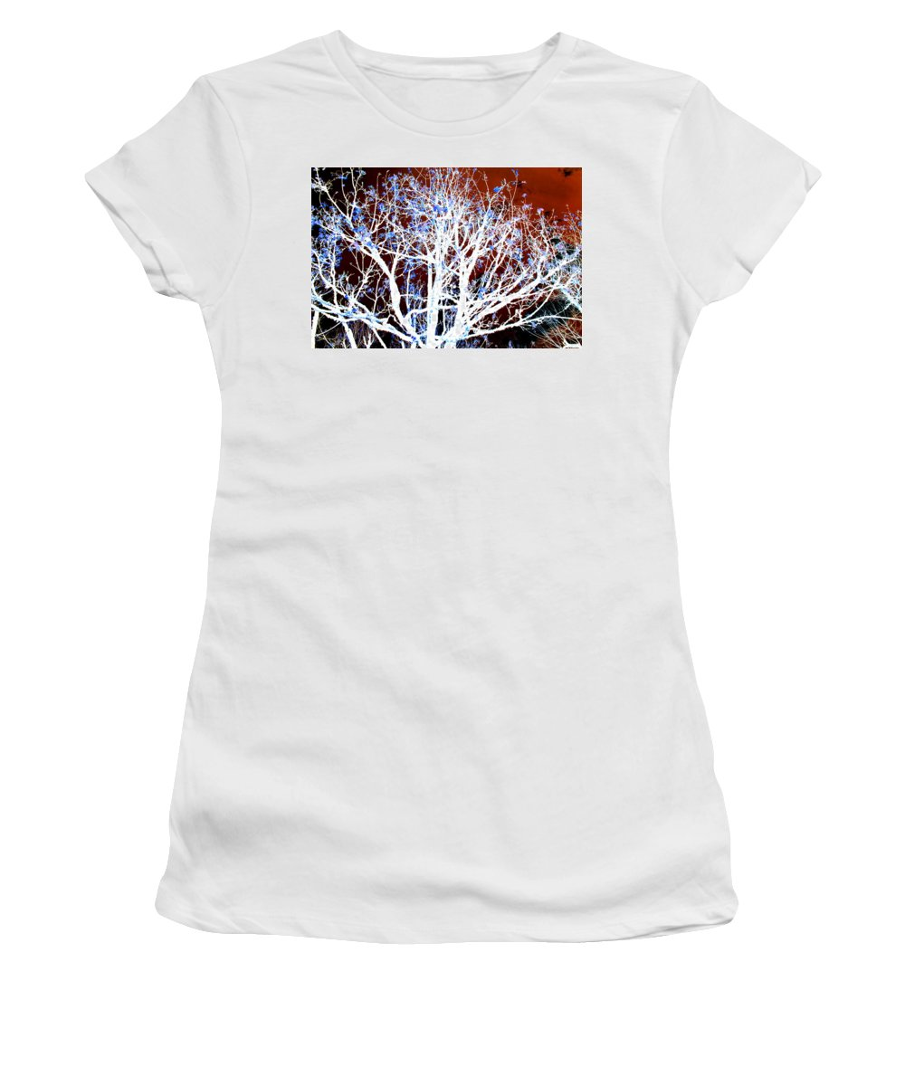 Tree Women's T-Shirt (Athletic Fit) featuring the photograph My Neighbor's Tree II by Kathy Sampson