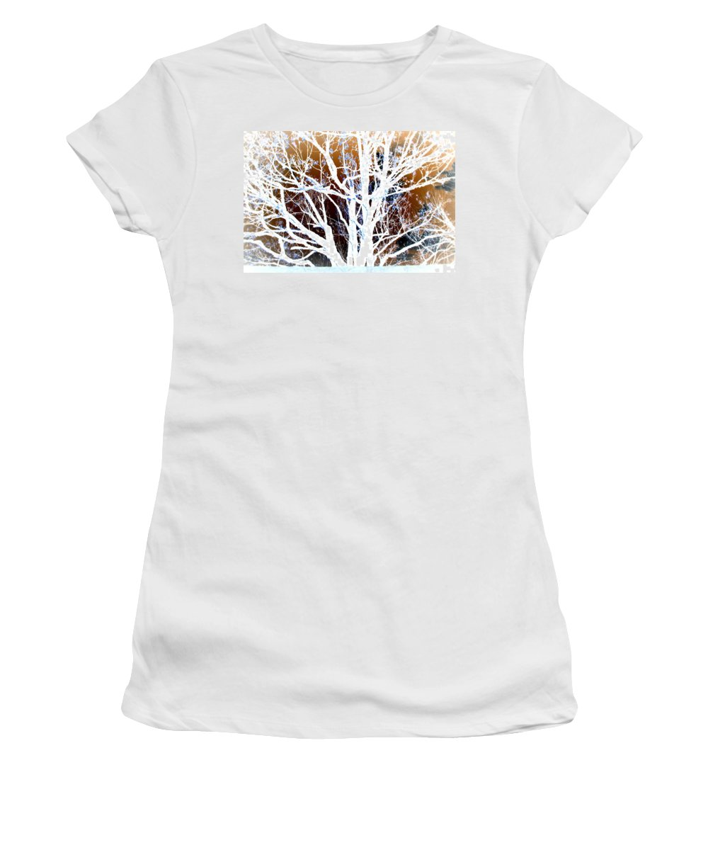 Tree Women's T-Shirt (Athletic Fit) featuring the photograph My Neighbor's Tree by Kathy Sampson