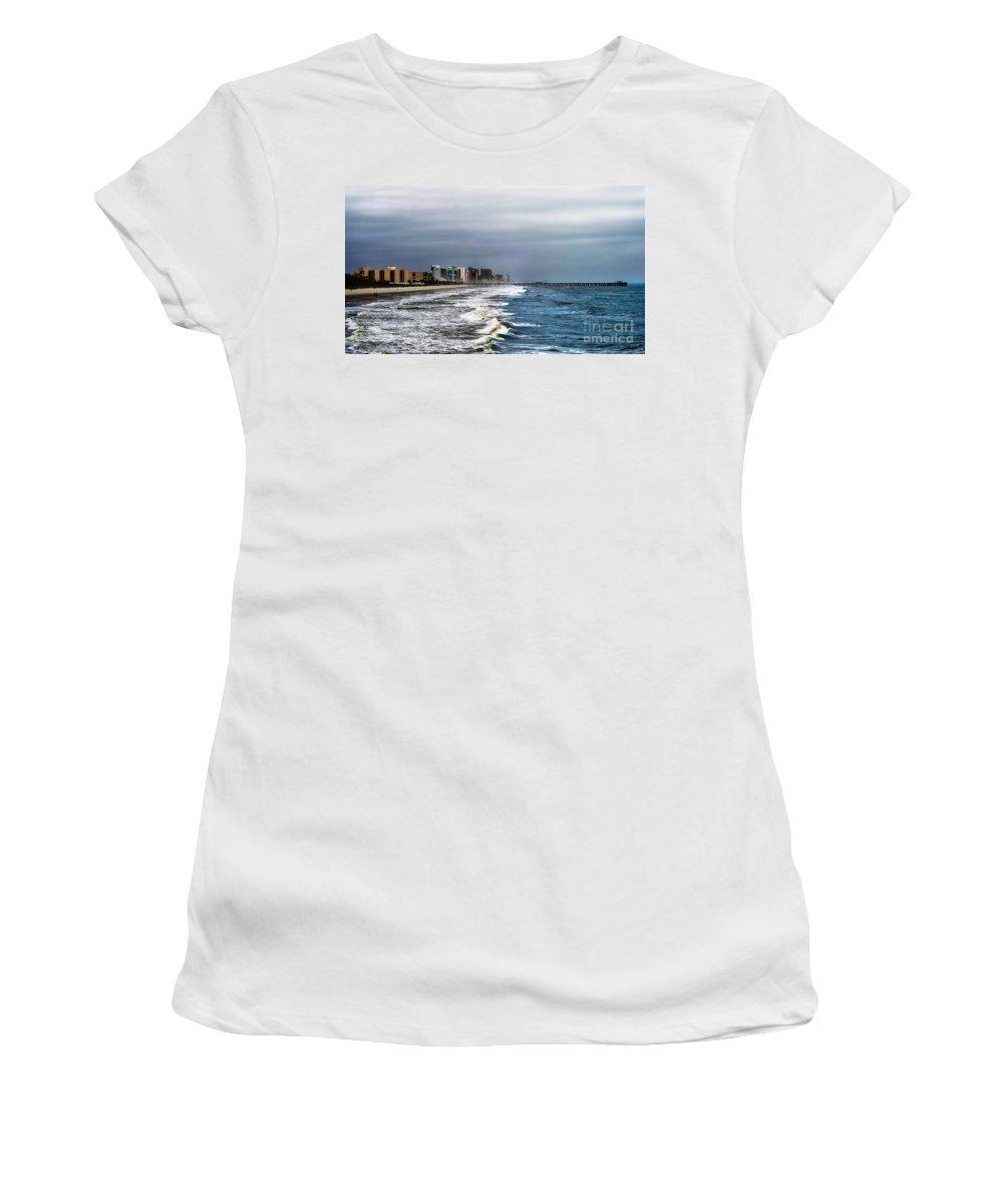 Myrtle Women's T-Shirt (Athletic Fit) featuring the photograph Myrtle Beach by Scott Hervieux