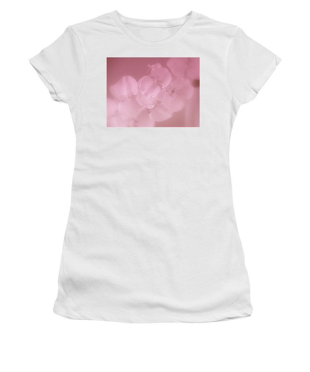 Orchid Women's T-Shirt (Athletic Fit) featuring the photograph Mystic Orchid by Kay Novy