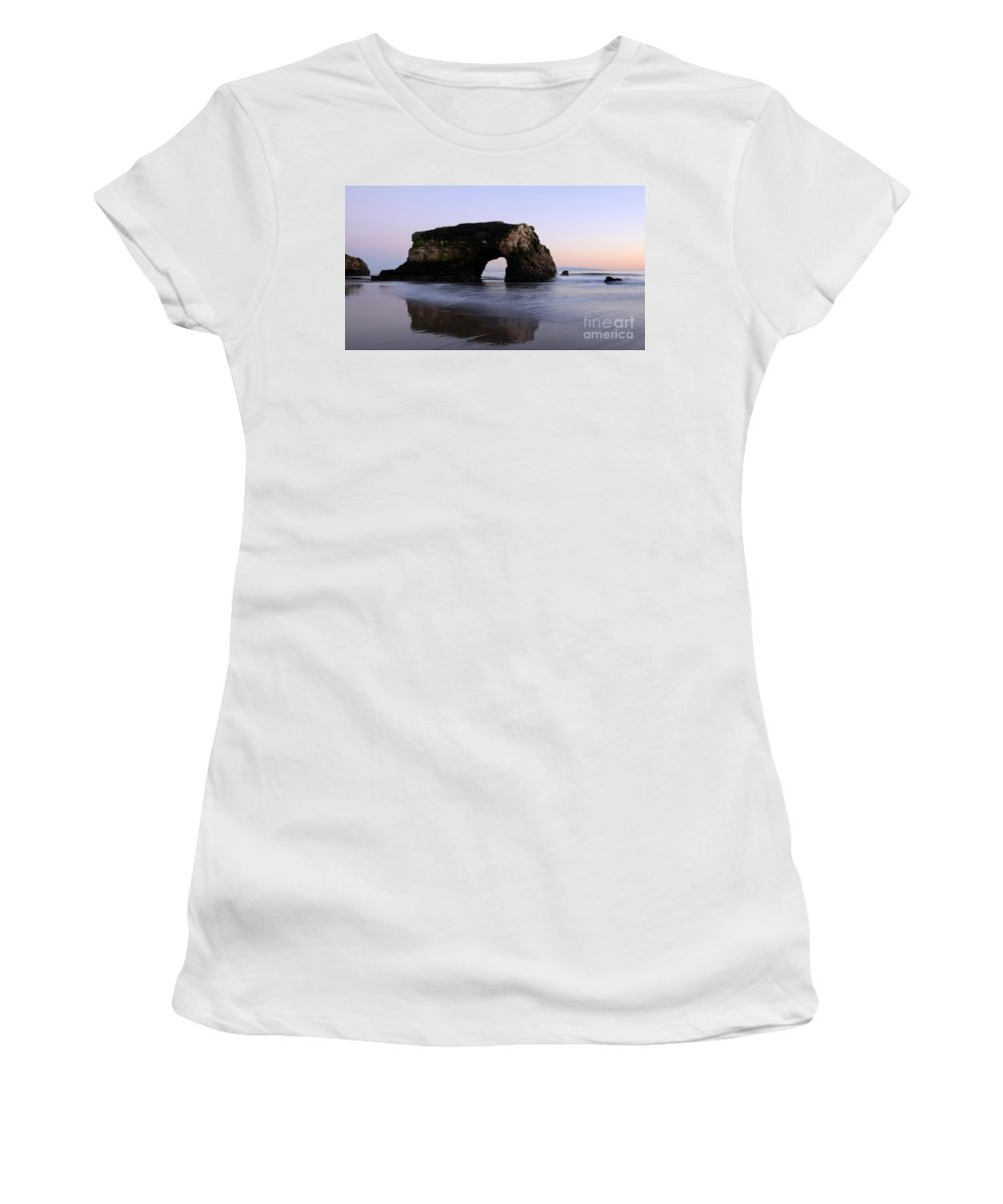 California Women's T-Shirt featuring the photograph Natural Bridges State Park California by Bob Christopher