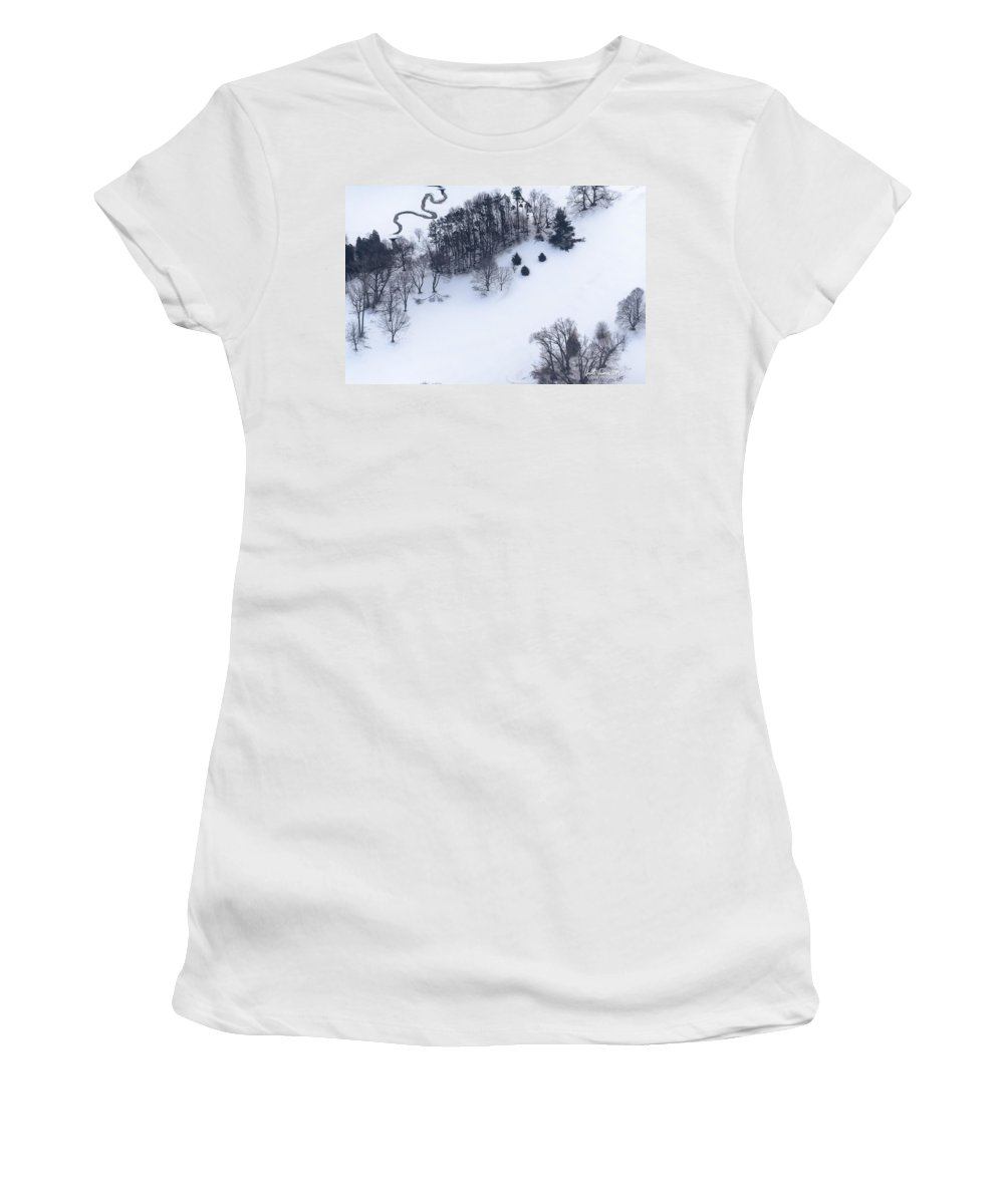 Tree Women's T-Shirt (Athletic Fit) featuring the photograph Nature's Doodles by Urbanmoon Photography