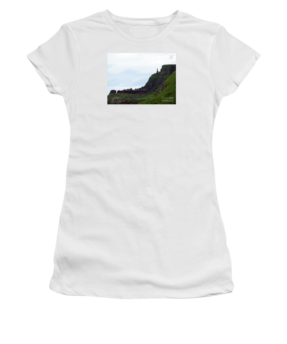 Fine Art Photography Women's T-Shirt (Athletic Fit) featuring the photograph Nature's Geometry II- Giant's Causeway by Patricia Griffin Brett