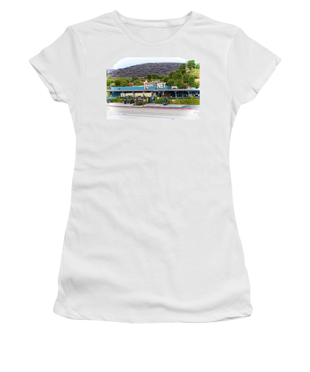 County Line Women's T-Shirt (Athletic Fit) featuring the photograph Neptune's Net by Lynn Bauer