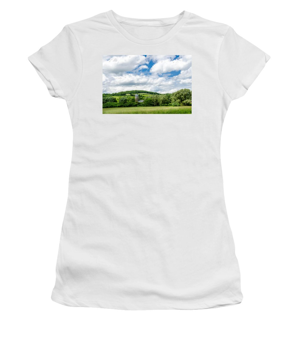 Barn Women's T-Shirt featuring the photograph Nestled by Guy Whiteley