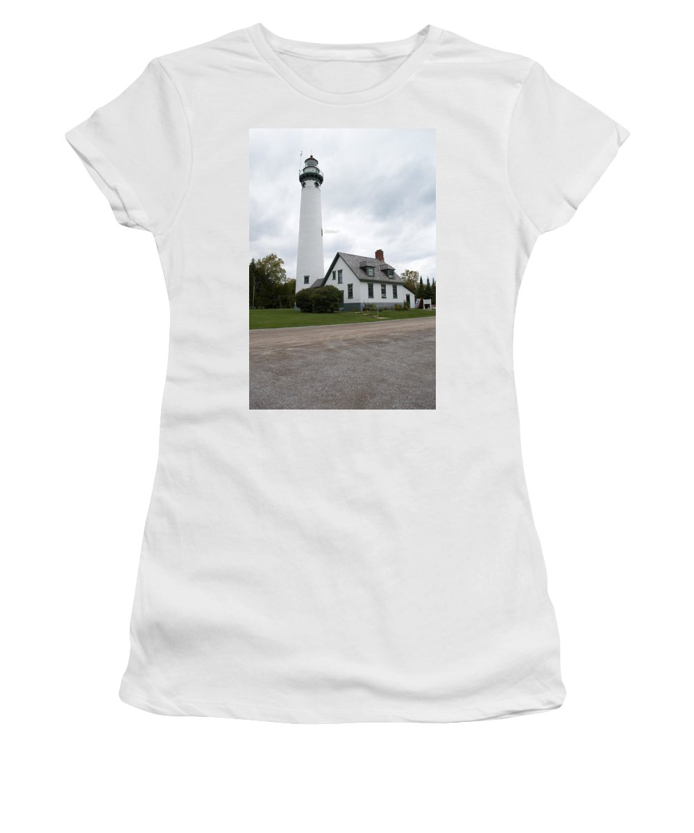 Lake Huron Women's T-Shirt (Athletic Fit) featuring the photograph New Light by Linda Kerkau
