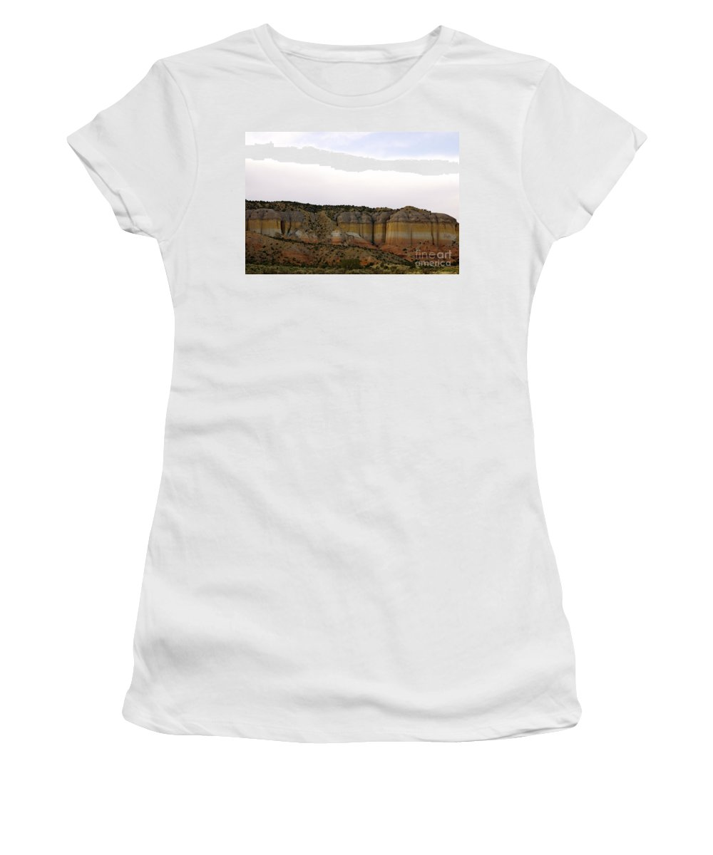 Walter White Women's T-Shirt (Athletic Fit) featuring the photograph New Photographic Art Print For Sale Breaking Bad Country New Mexico by Toula Mavridou-Messer
