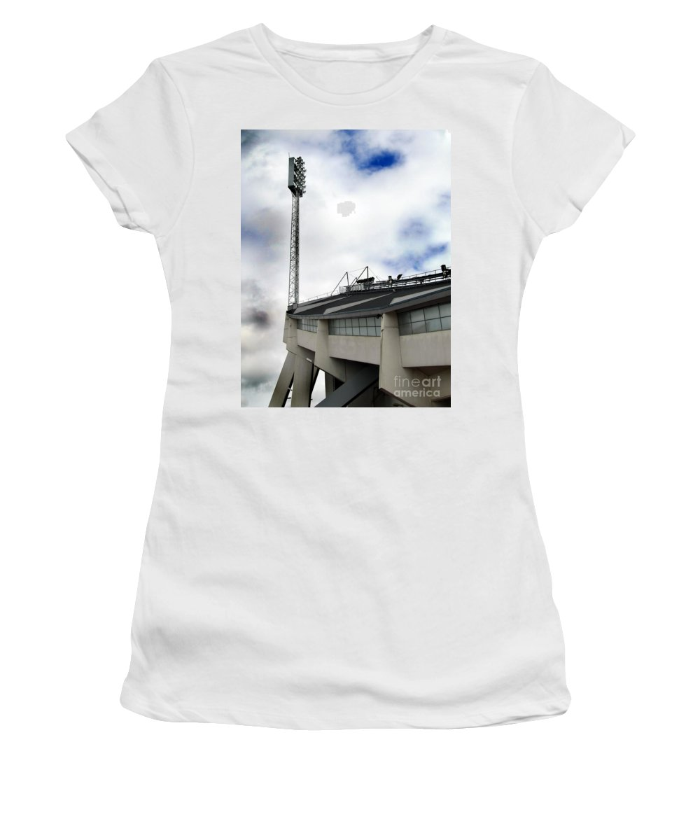 Array Women's T-Shirt (Athletic Fit) featuring the photograph New Ullevi Stadium 01 by Antony McAulay