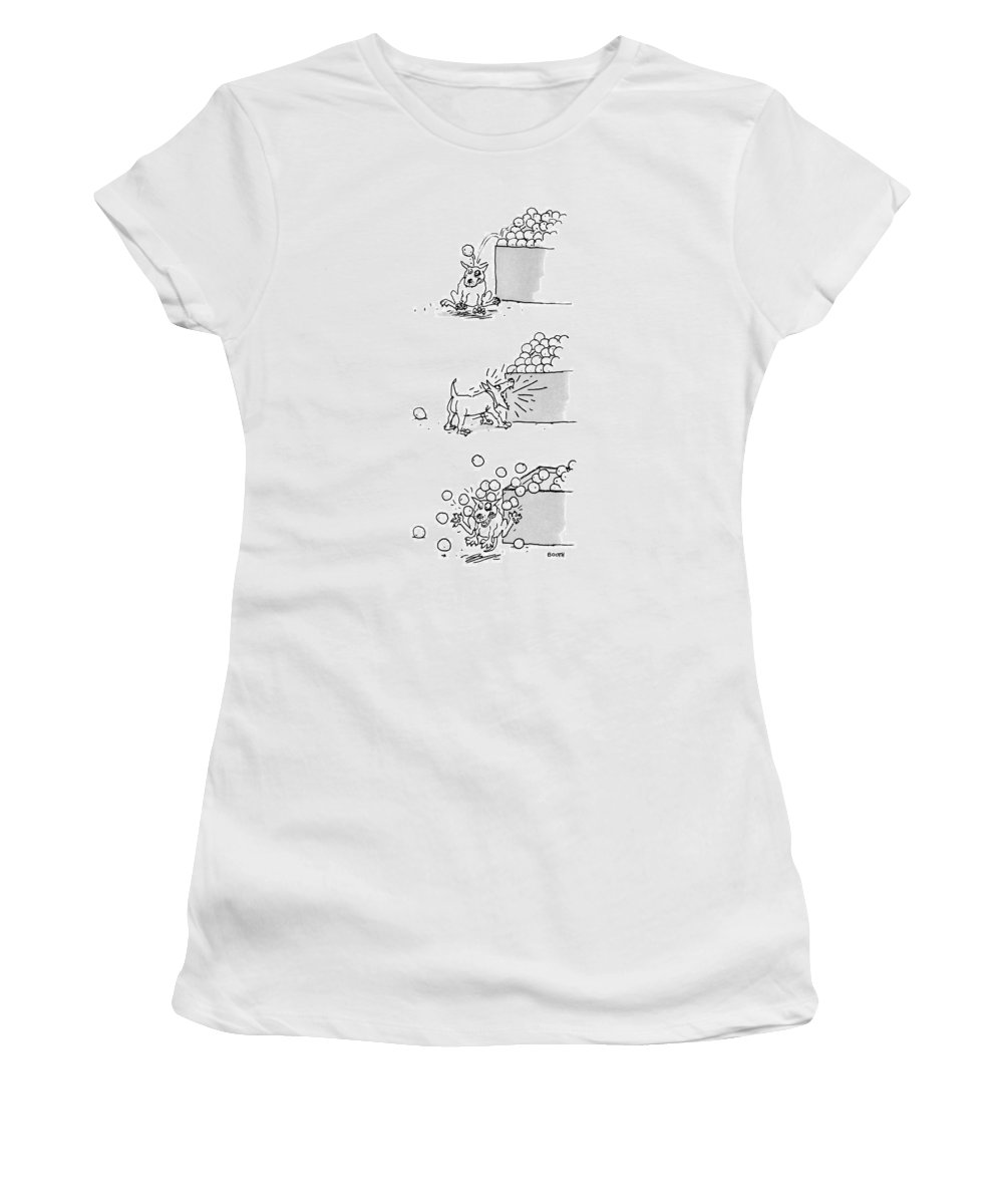 Captionless Women's T-Shirt featuring the drawing New Yorker April 4th, 1988 by George Booth