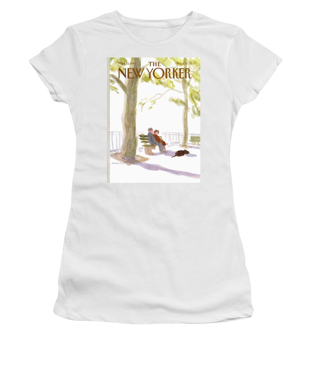Nature Women's T-Shirt featuring the painting New Yorker March 23rd, 1981 by James Stevenson