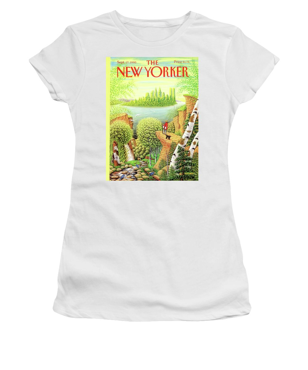 Animal Women's T-Shirt featuring the painting New Yorker September 17, 1990 by Bob Knox