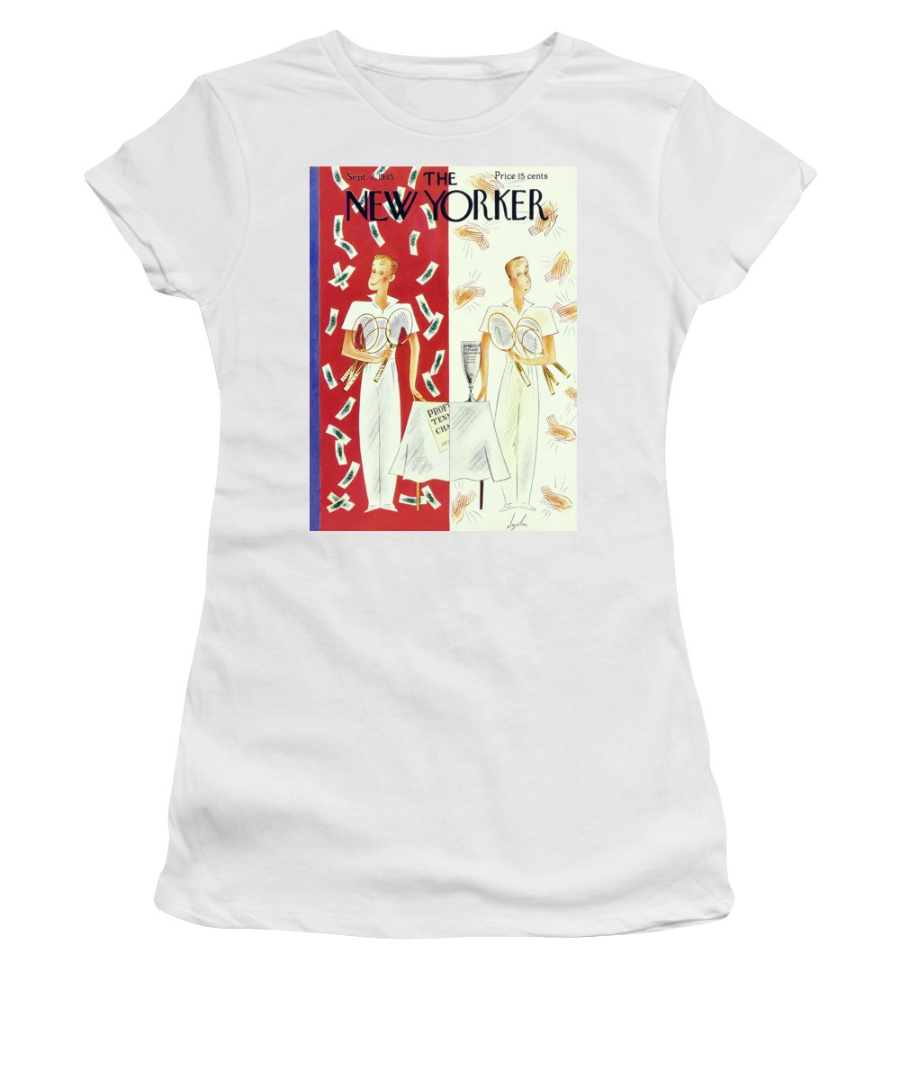 Sport Women's T-Shirt featuring the painting New Yorker September 7 1935 by Constantin Alajalov