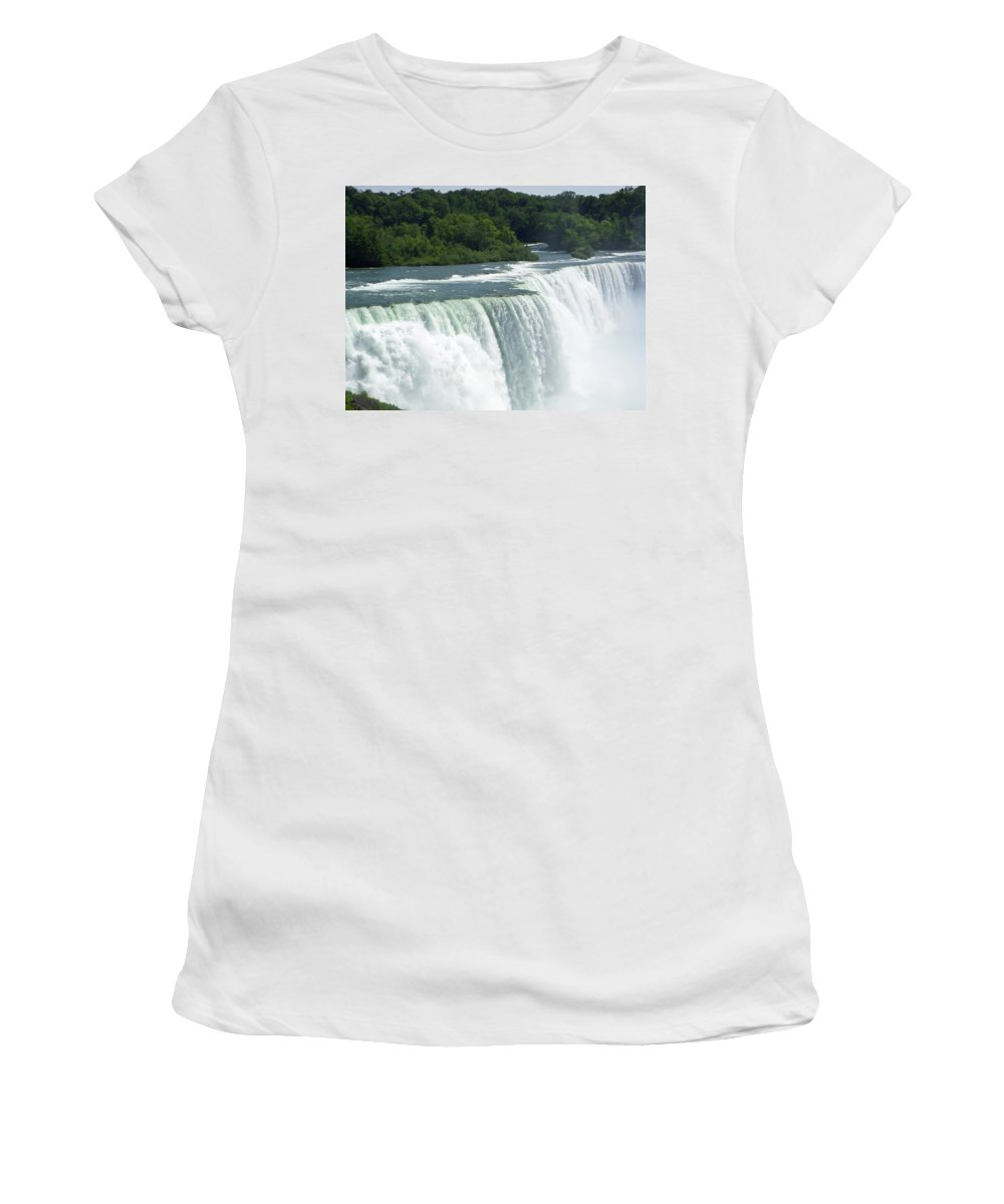 Niagara Falls Women's T-Shirt (Athletic Fit) featuring the photograph Niagara Falls 8 by Aimee L Maher ALM GALLERY