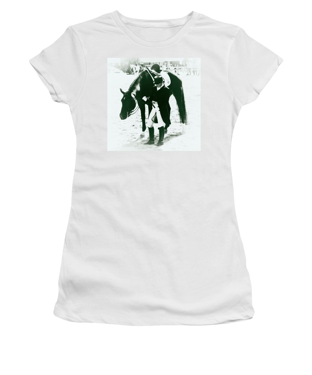 Dressage Rider Women's T-Shirt featuring the photograph Nice Ride by Alice Gipson