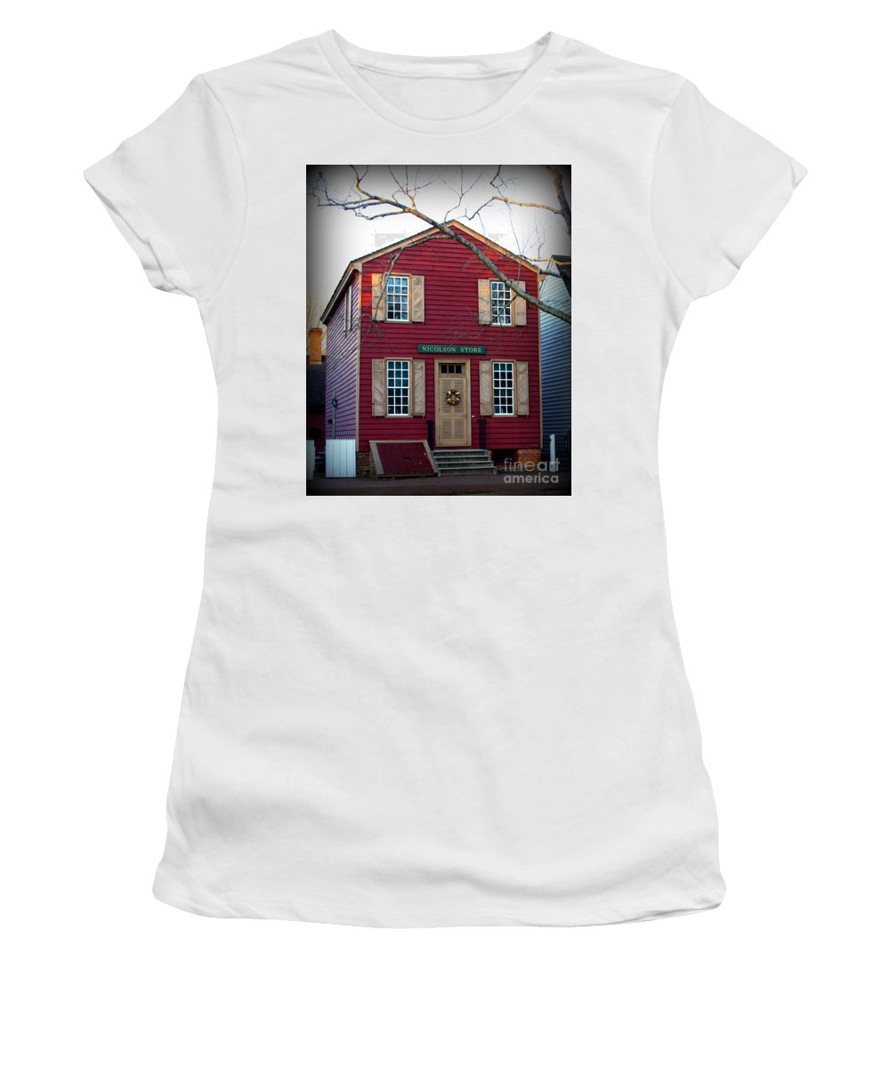 Nicolson Store Women's T-Shirt featuring the photograph Nicolson Store by Patti Whitten