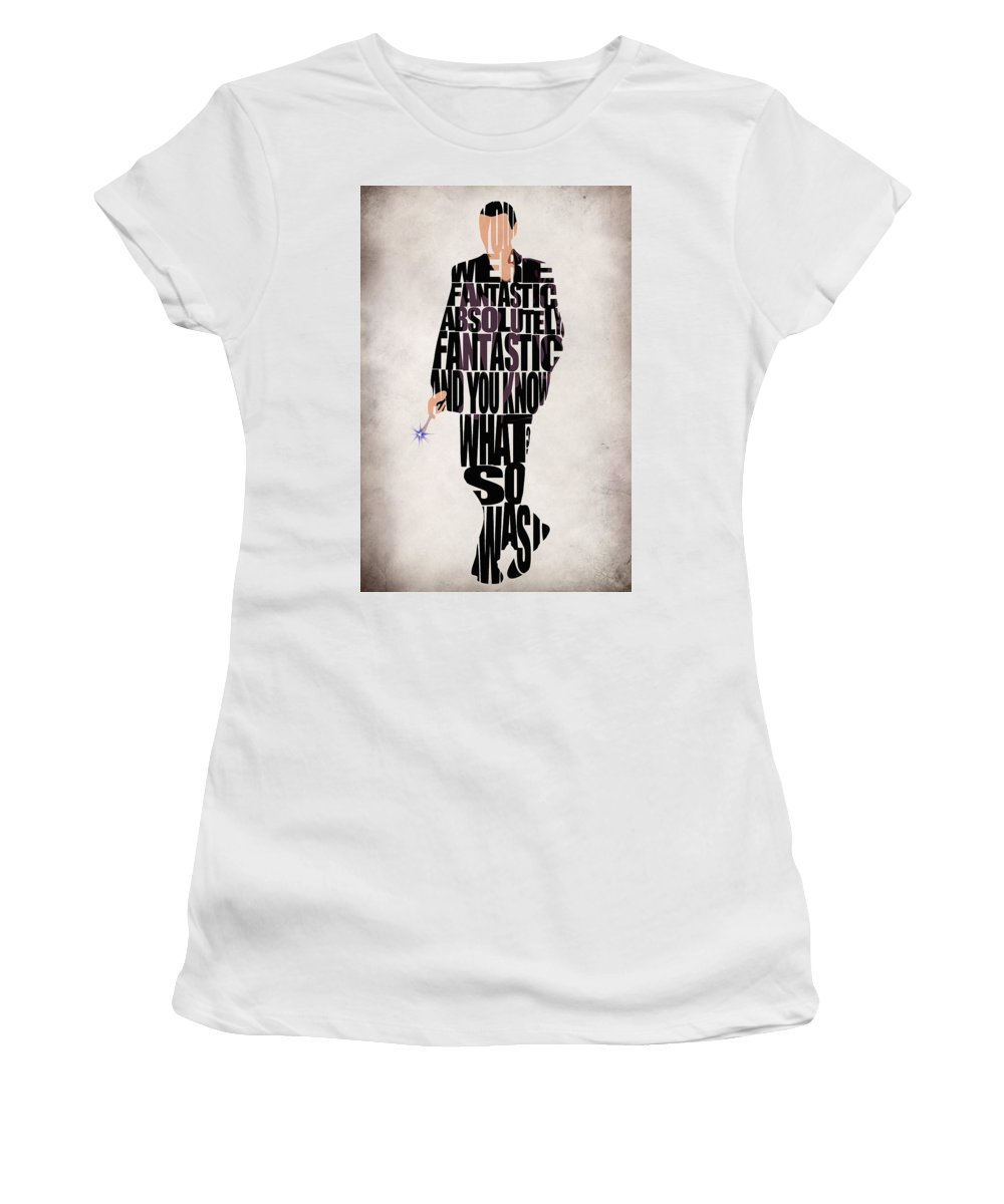 Doctor Who Women's T-Shirt (Athletic Fit) featuring the digital art Ninth Doctor - Doctor Who by Inspirowl Design