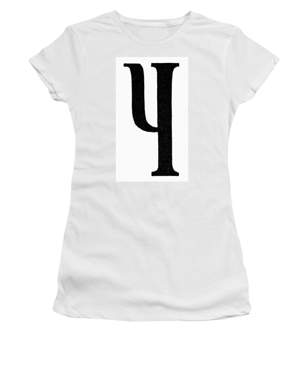 Ancient Women's T-Shirt (Athletic Fit) featuring the painting Nordic Rune Kinda by Granger