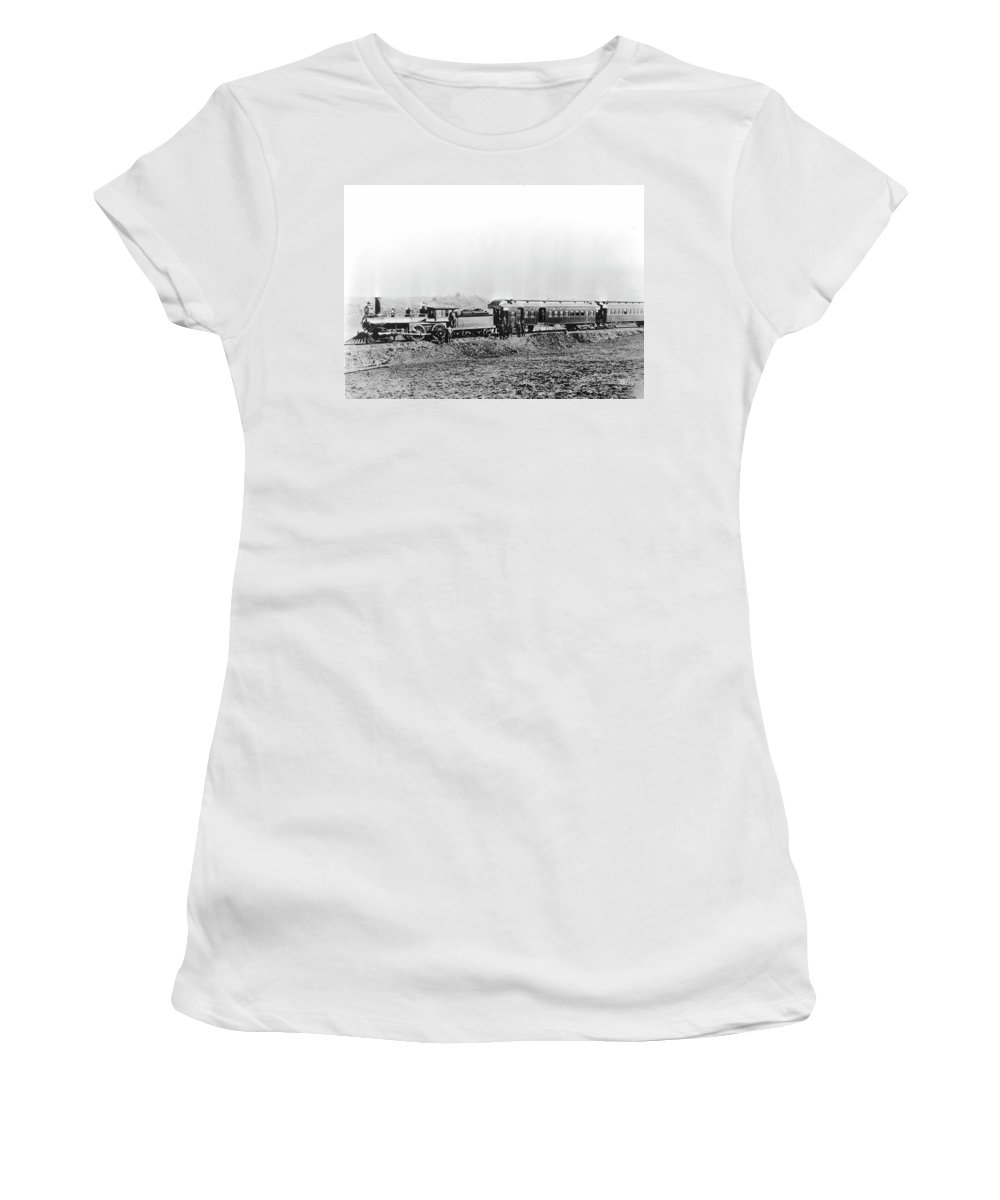 1887 Women's T-Shirt (Athletic Fit) featuring the photograph North Carolina Train by Granger