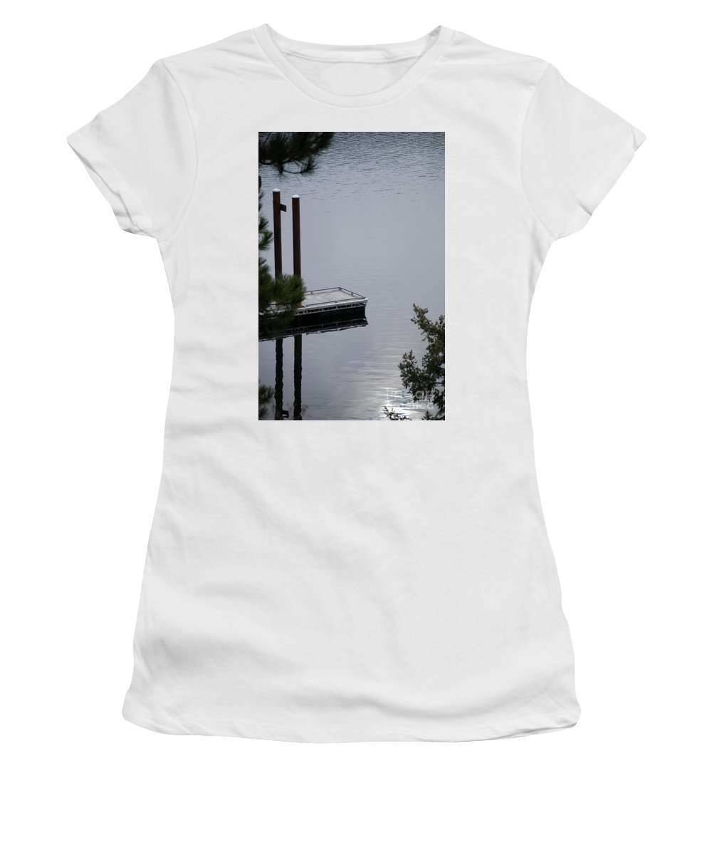 Lake Women's T-Shirt (Athletic Fit) featuring the photograph Northern Idaho Winter by Sharon Elliott
