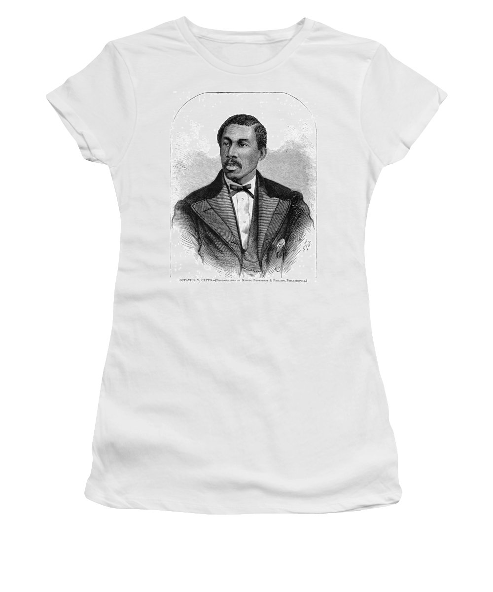 1871 Women's T-Shirt (Athletic Fit) featuring the painting Octavius Catto (1839-1871) by Granger