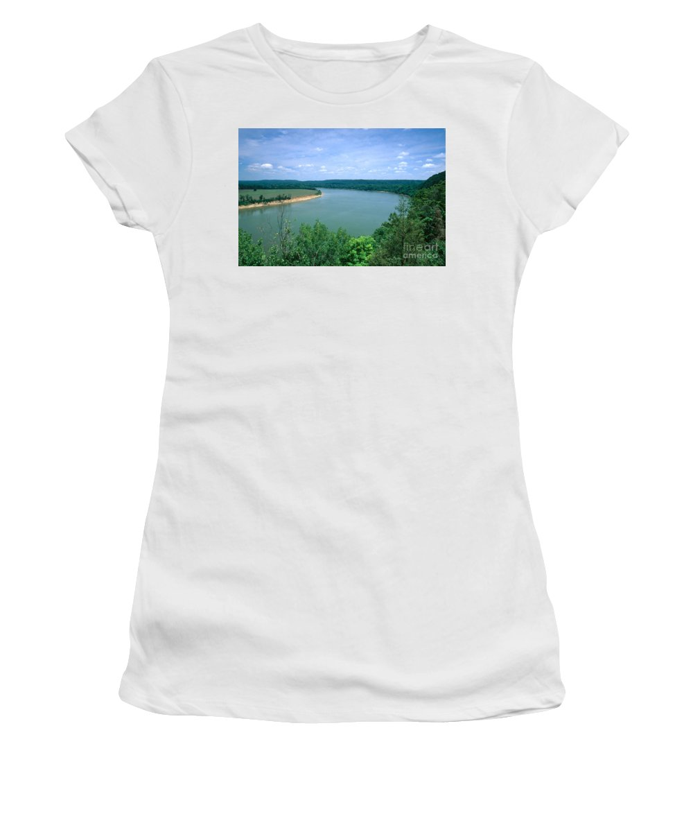 Ohio River Women's T-Shirt (Athletic Fit) featuring the photograph Ohio River by David Davis