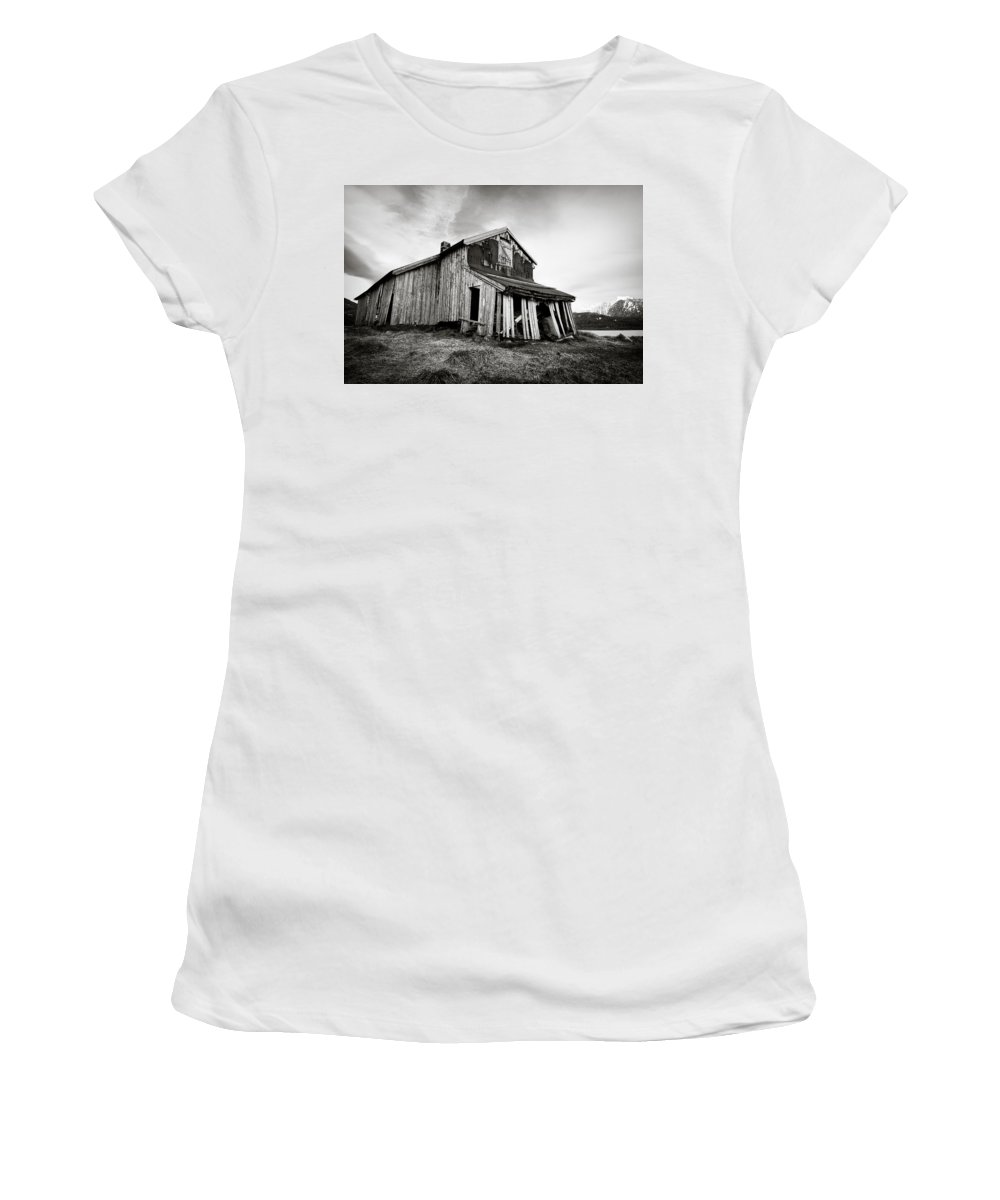 Barn Women's T-Shirt (Athletic Fit) featuring the photograph Old Barn by Dave Bowman