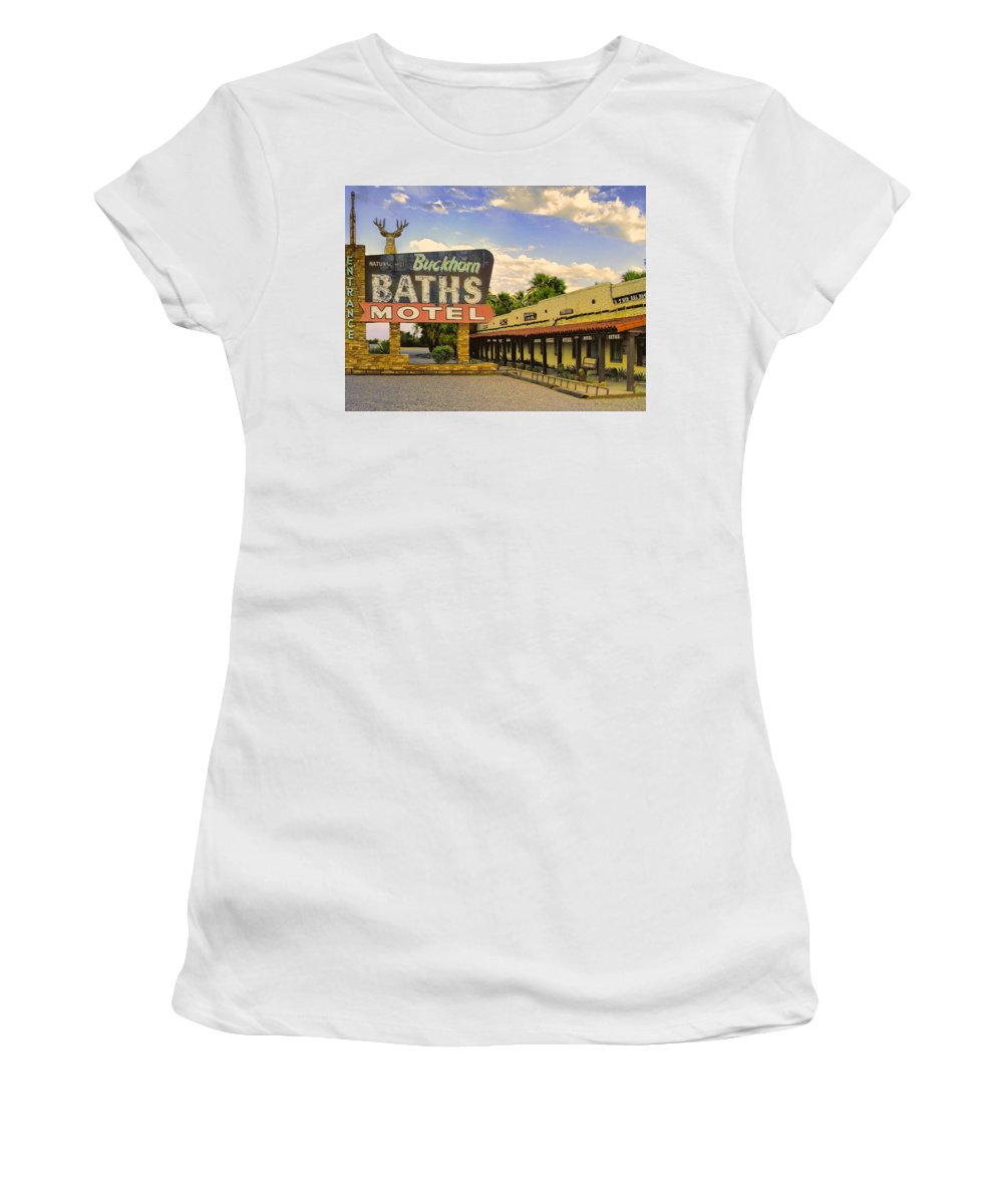Spa Women's T-Shirt (Athletic Fit) featuring the photograph Old Buckhorn Baths by Dominic Piperata