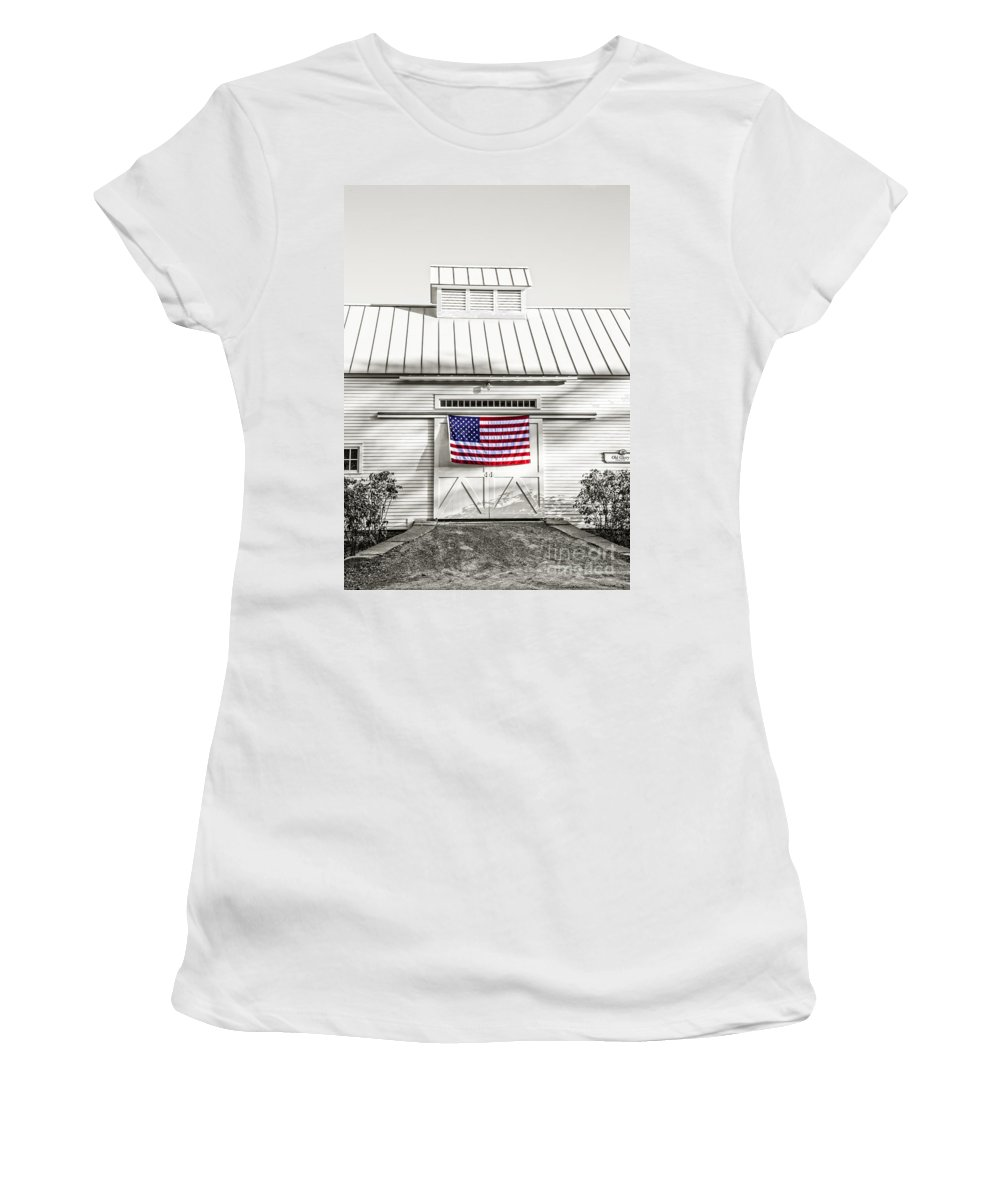 Vermont Women's T-Shirt featuring the photograph Old Glory Circa 1776 by Edward Fielding