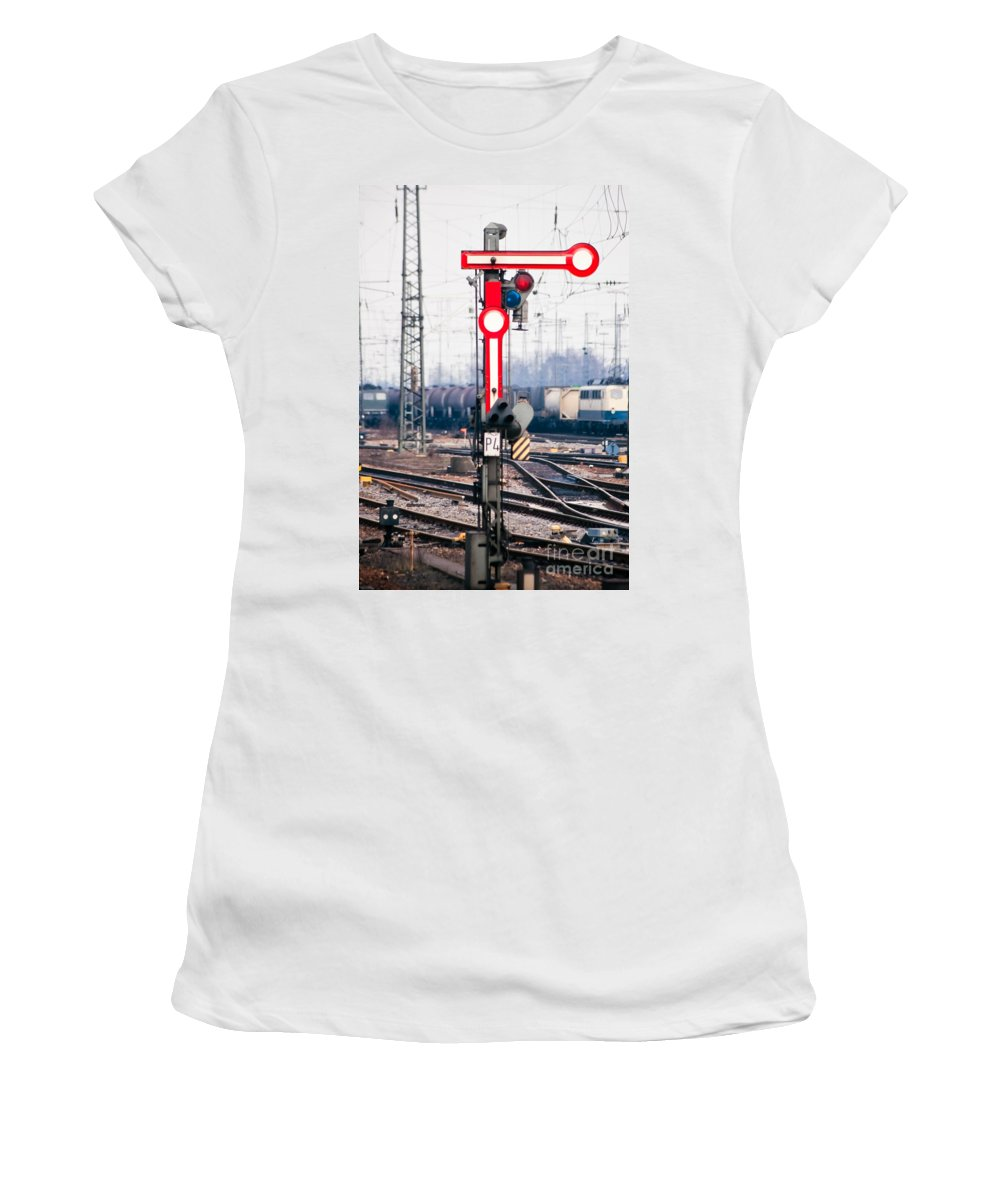 Arm Women's T-Shirt featuring the photograph Old Railway Semaphore by Stephan Pietzko