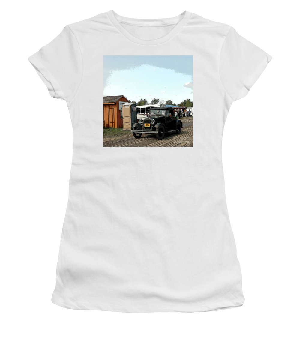 Car Women's T-Shirt (Athletic Fit) featuring the photograph Old Times by Kathleen Struckle