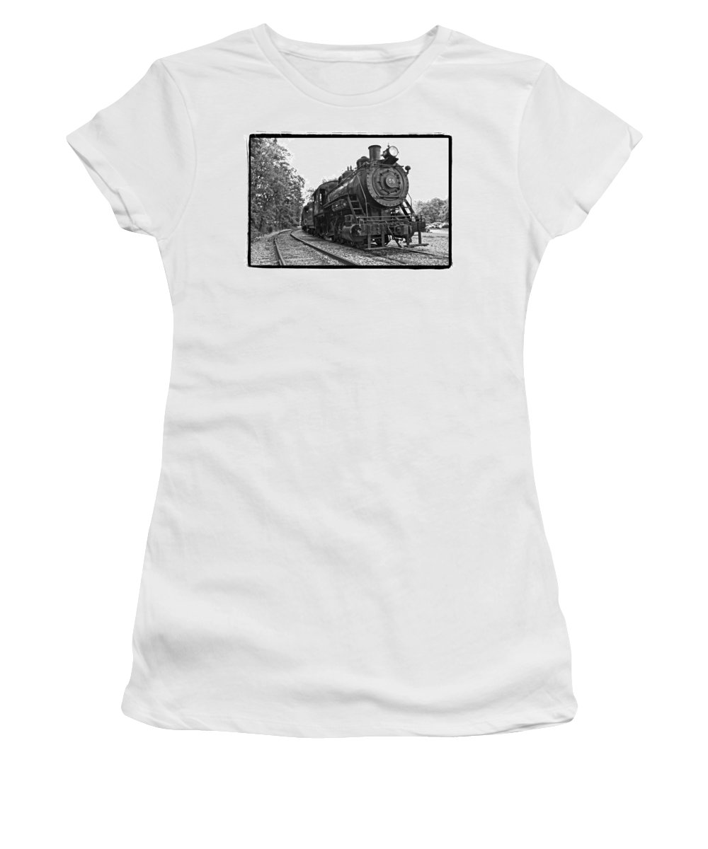 Train Women's T-Shirt featuring the photograph Old Trains by Alice Gipson