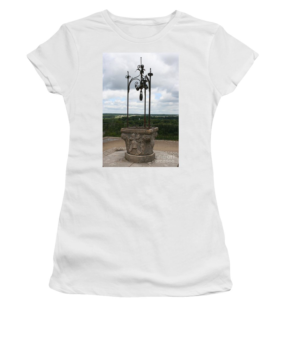 Well Women's T-Shirt (Athletic Fit) featuring the photograph Old Well Chateau Chaumont by Christiane Schulze Art And Photography