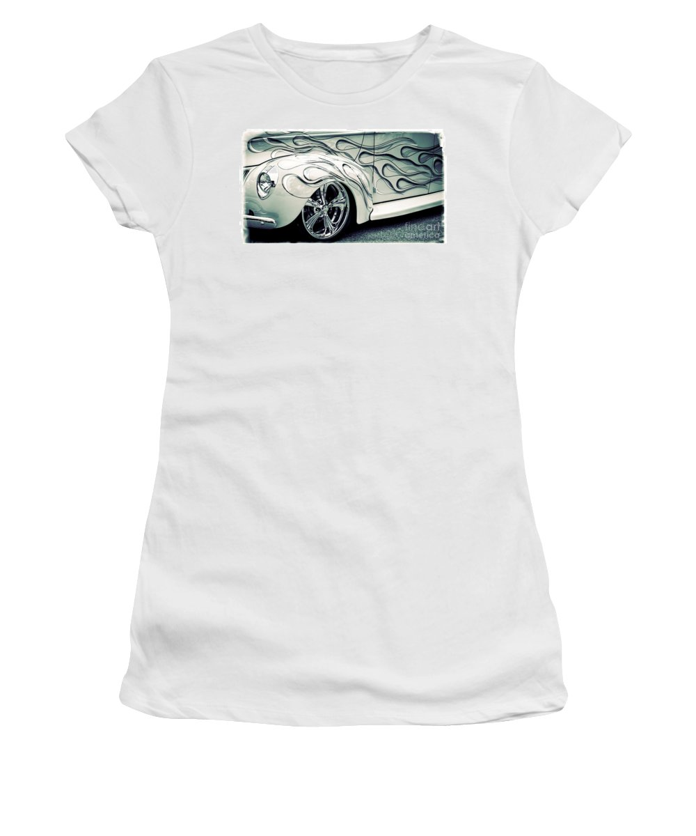 Car Women's T-Shirt featuring the photograph On Fire by Perry Webster