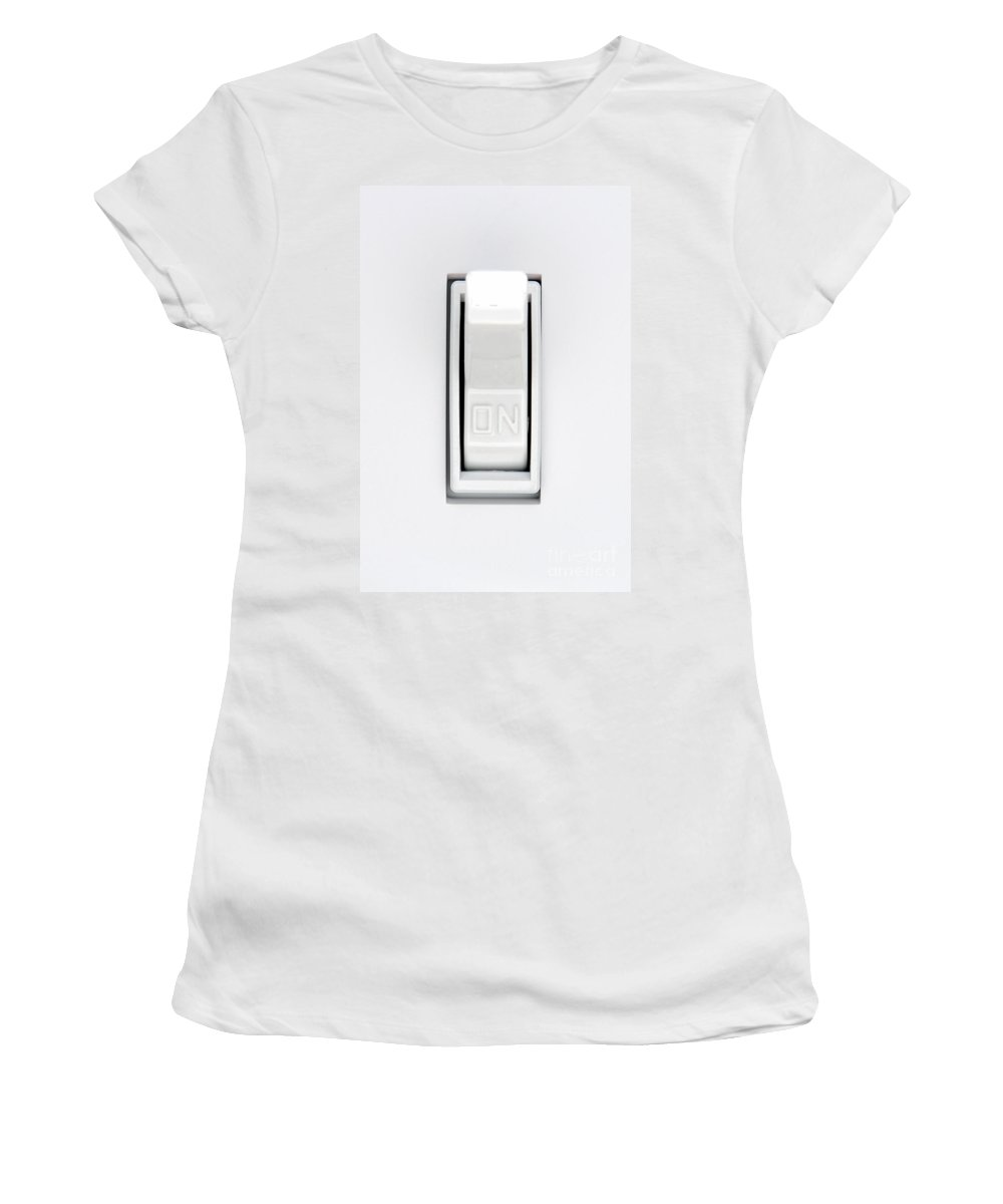 Switch Women's T-Shirt (Athletic Fit) featuring the photograph ON by Olivier Le Queinec