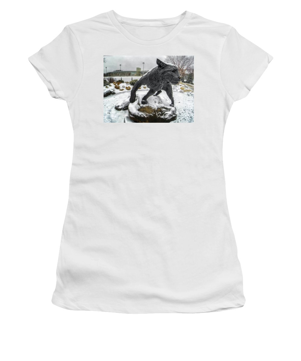Unh Women's T-Shirt featuring the photograph On The Prowl by Scott Thorp