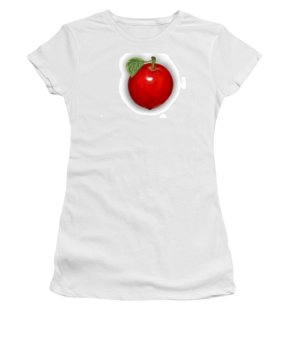 Women's T-Shirt featuring the digital art One A Day Keep The Doc Away by Mathieu Lalonde