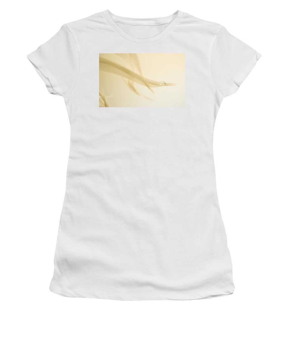 Feather Women's T-Shirt (Athletic Fit) featuring the photograph One Drop Of Water by Bob Orsillo