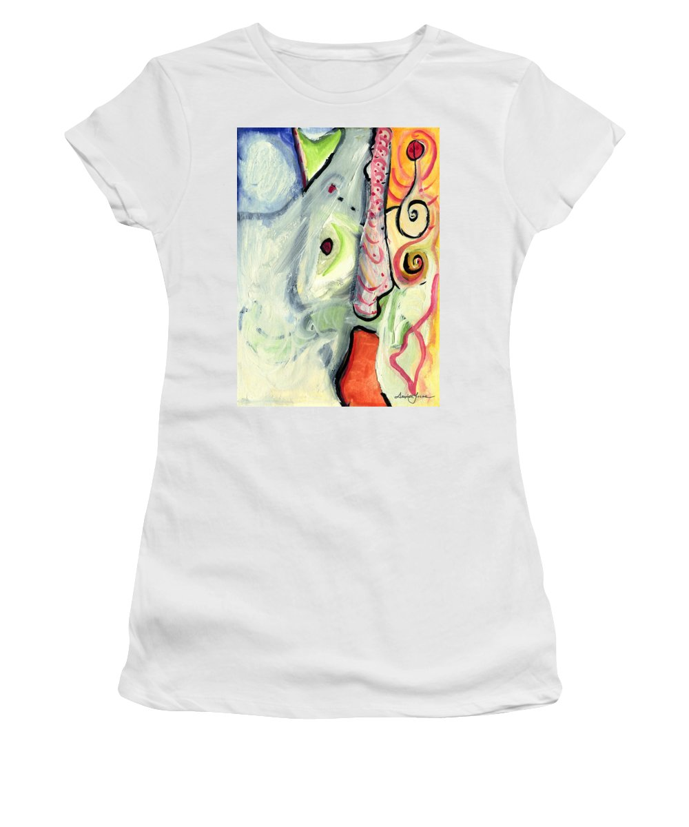 Abstract Art Women's T-Shirt (Athletic Fit) featuring the painting One In A Million by Stephen Lucas