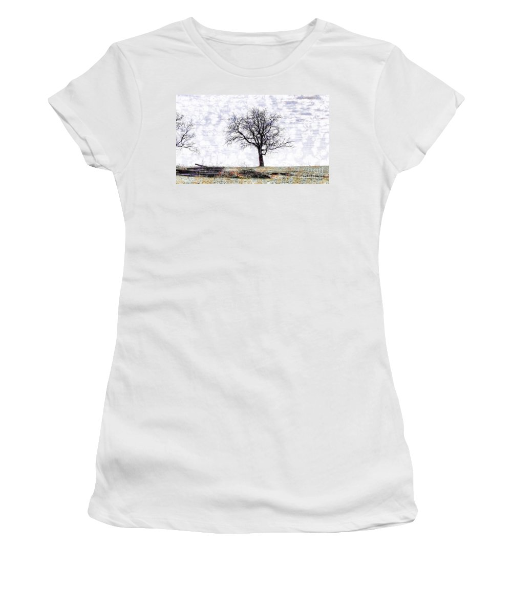 Only The Lonely Women's T-Shirt featuring the photograph Only The Lonely by Liane Wright