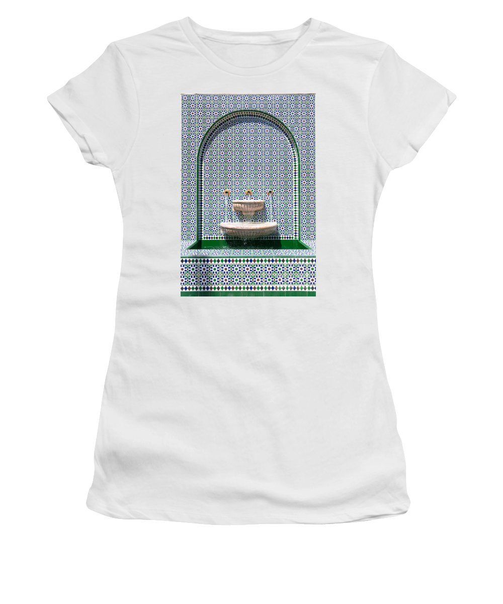 Arabesque Women's T-Shirt featuring the photograph Ornate Fountain - Oman by Matteo Colombo