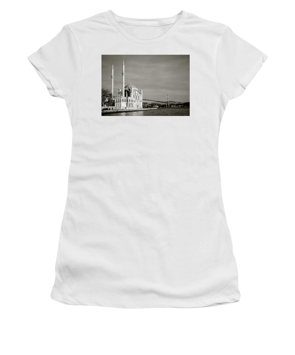 Ortakoy Mosque Women's T-Shirt (Athletic Fit) featuring the photograph Ortakoy Mosque by Shaun Higson