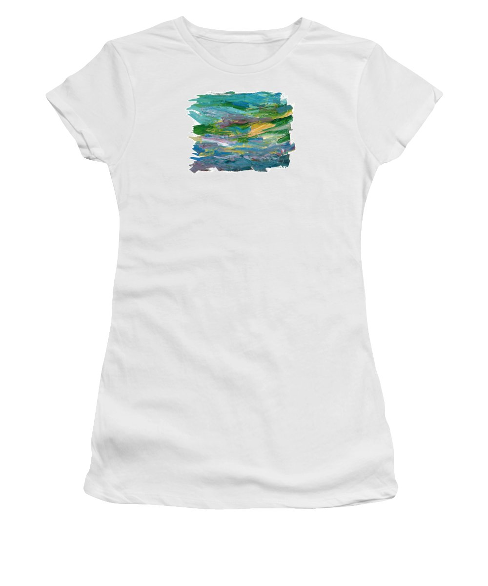 Abstract Women's T-Shirt (Athletic Fit) featuring the painting Osterlen by Bjorn Sjogren