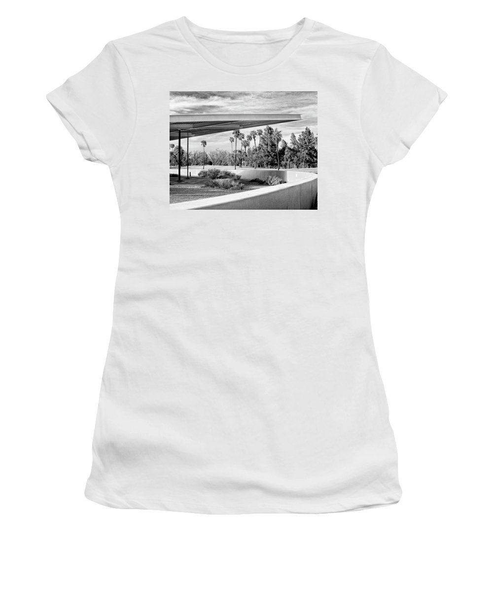 Palm Springs Women's T-Shirt featuring the photograph OVERHANG BW Palm Springs by William Dey