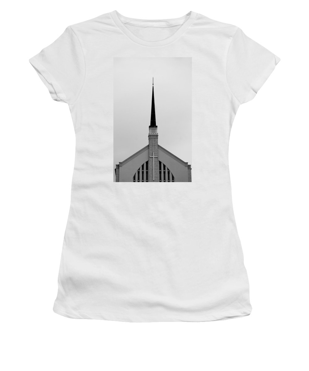 Church Women's T-Shirt featuring the photograph Overlooking Lake Morton 2 by Laurie Perry