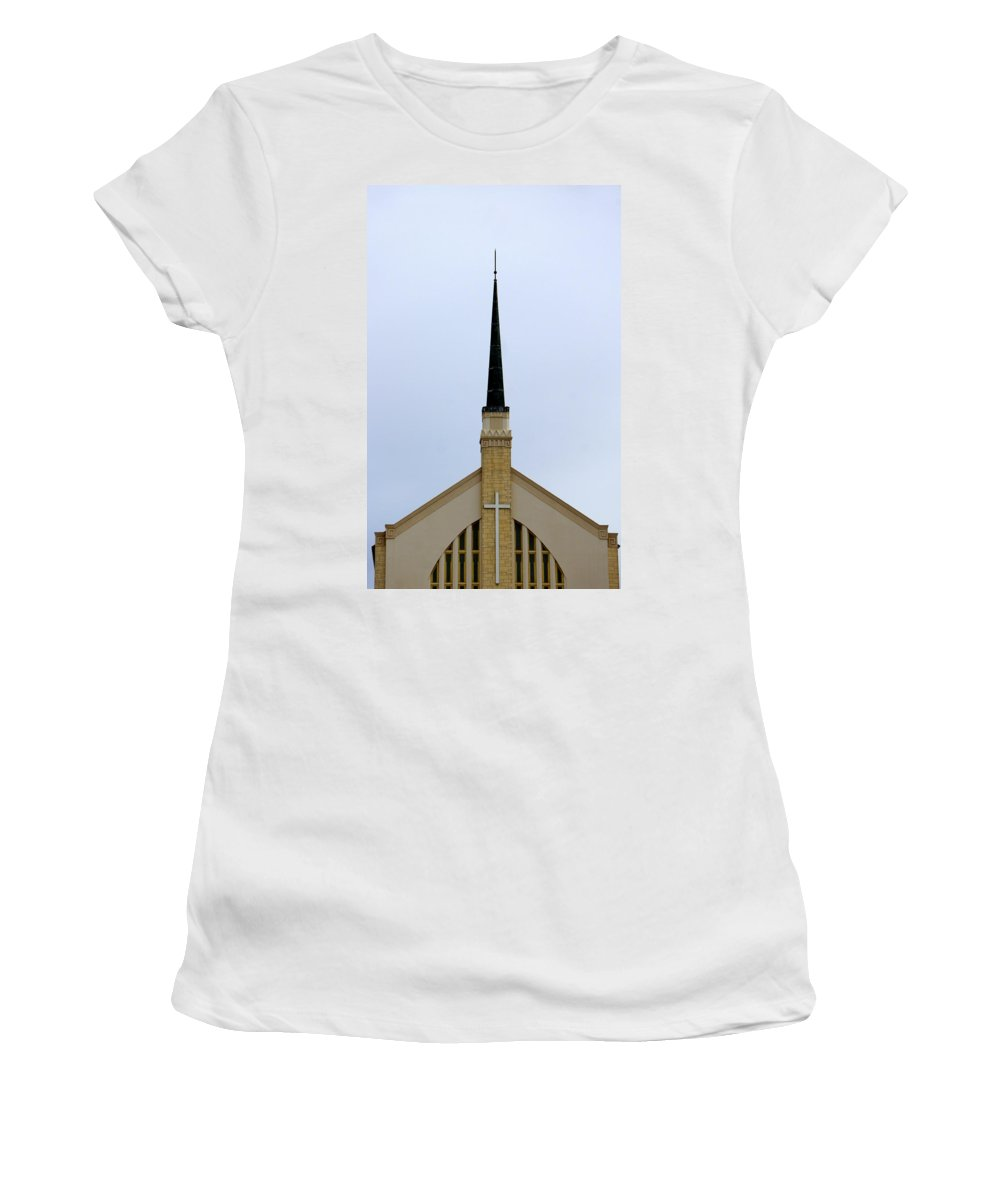 Church Women's T-Shirt featuring the photograph Overlooking Lake Morton by Laurie Perry