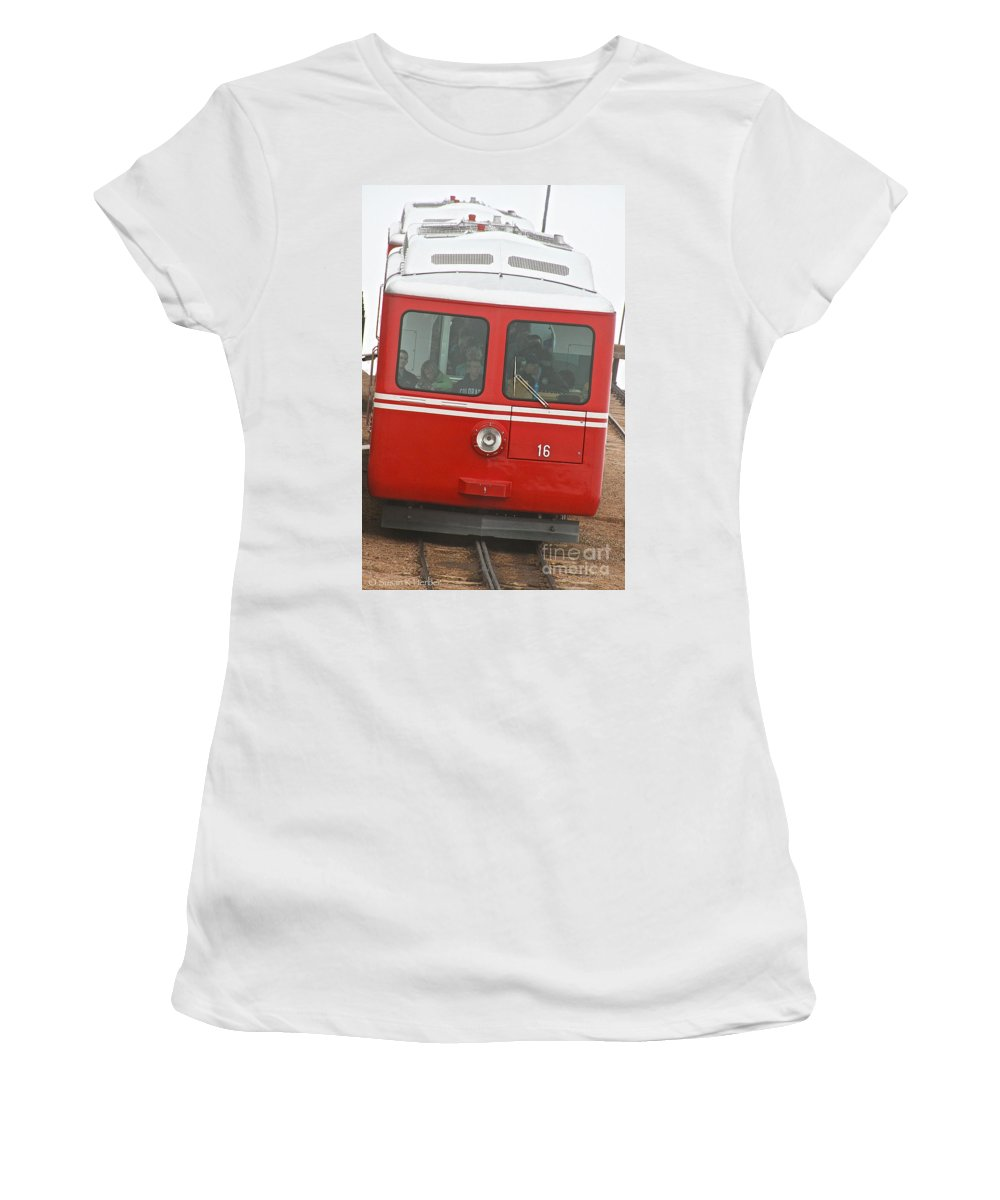 Train Women's T-Shirt featuring the photograph P P Cog Train by Susan Herber