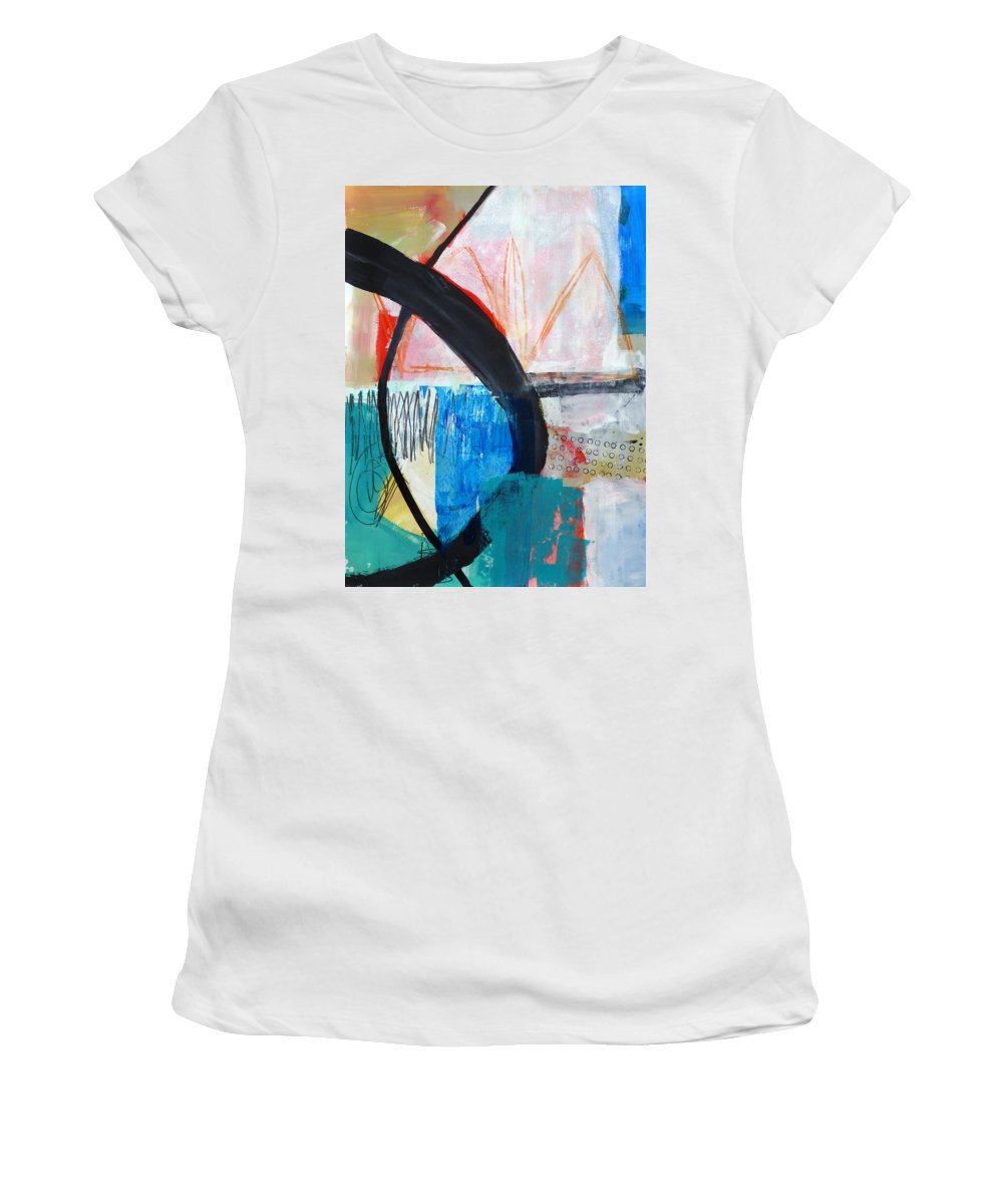 Keywords: Abstract Women's T-Shirt featuring the painting Paint Solo 1 by Jane Davies